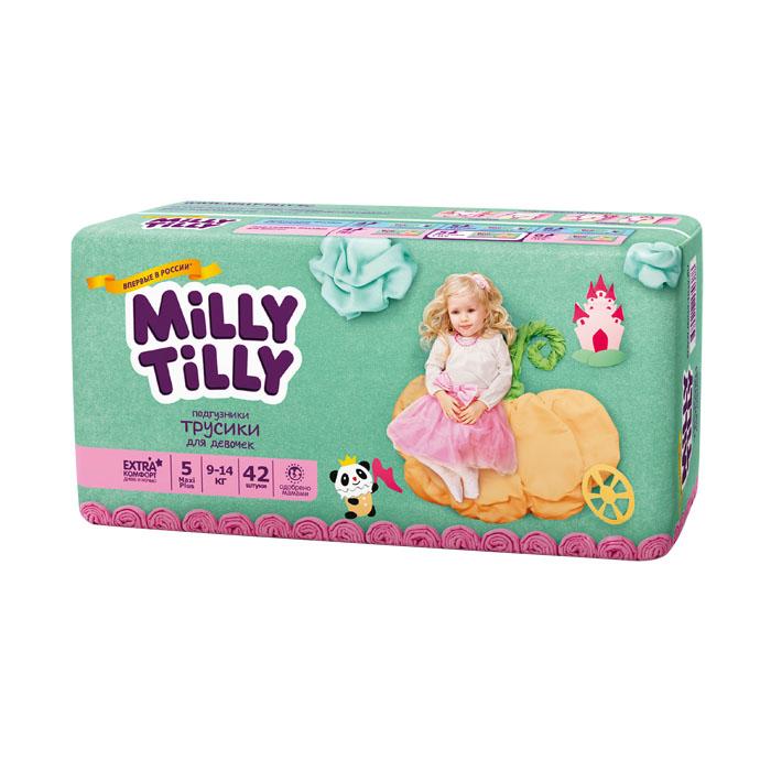 Подгузники-трусики для девочек Milly Tilly 5, 9-14 кг, 42 шт0388Отличие трусиков-подгузников для мальчиков и девочек: исходя из анатомических особенностей усилены разные зоны впитываемости, использован разный эмоциональный дизайн. Мягкий дышащий материал позволяет свободно циркулировать воздуху внутри подгузника. Комфорт в движении - супермягкий широкий поясок из многочисленных эластичных резиночек надежно фиксирует трусики и при этом не стесняют движений малыша. Комфортная защита - нежные оборочки настолько мягкие, что не натирают ножки даже у крепышей. Сухость без протеканий - высокие барьерчики надежно защищают от протекания, когда малыш спит или бодрствует. Усиленная защиат - супервпитывающий внутренний слой быстро превращает жидкость в гель без образования комочков. Кожа малыша надолго остается сухой и нежной. Комфорт в удовольствие - на каждом подгузнике-трусиках смешной герой развеселит малыша и поднимет настроение маме. Легко снимать - трусики удобно одевать через ножки и легко снимать, раскрепив...