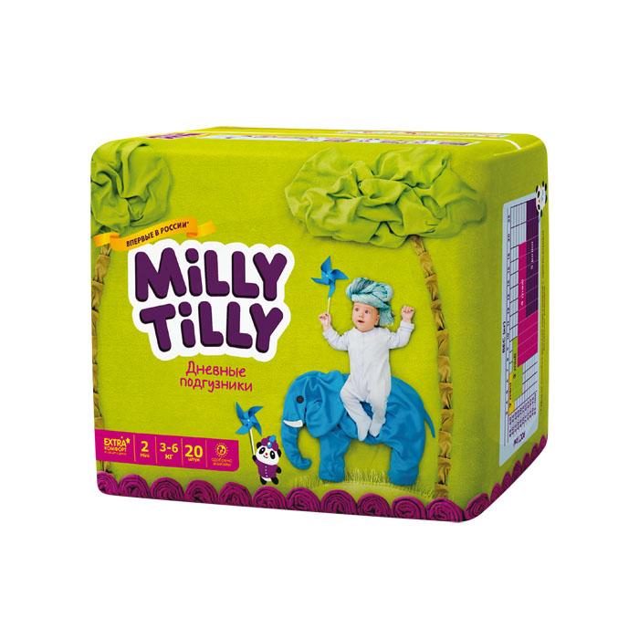 Milly Tilly Подгузники дневные Mini, 3-6 кг, 20 шт50Нежный материал дневного подгузника Milly Tilly в виде сот прилегает к коже и дарит малышу невероятный комфорт. Данная структура верхнего слоя в виде сот позволяет свободно циркулировать воздуху внутри подгузника. Эластичные поясочки надежно фиксируют его, при этом не стесняют движений малыша. Нежные оборочки сделаны из трех мягких резиночек, которые не натирают ножки. Застежки Magic Fix - настолько крепкие, что их можно пристёгивать и отстёгивать много раз для лучшей фиксации. Система Liquid Security позволяет равномерно распределять влагу, без комочков. Кожа малыша надолго остаётся сухой и нежной. Цифры на пояске помогут симметрично застегнуть подгузник. На каждом подгузнике смешной герой развеселит малыша и поднимет настроение маме. Проверено дерматологами.