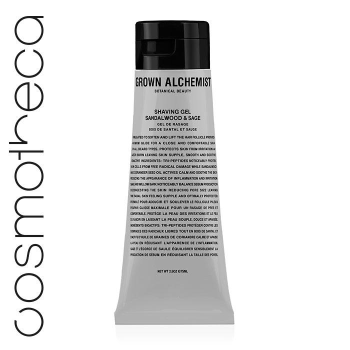 Grown Alchemist Гель для бритья Сандал и шалфей, 75 млGRA0052Нежная текстура геля для бритья прекрасно смягчит волосы и снимет раздражения. Разработано для всех типов кожи лица и тела. Защищает от вредного воздействия свободных радикалов. Успокаивает воспаления и раздражения. Повышает эластичность кожи. Успокаивает и смягчает кожу.