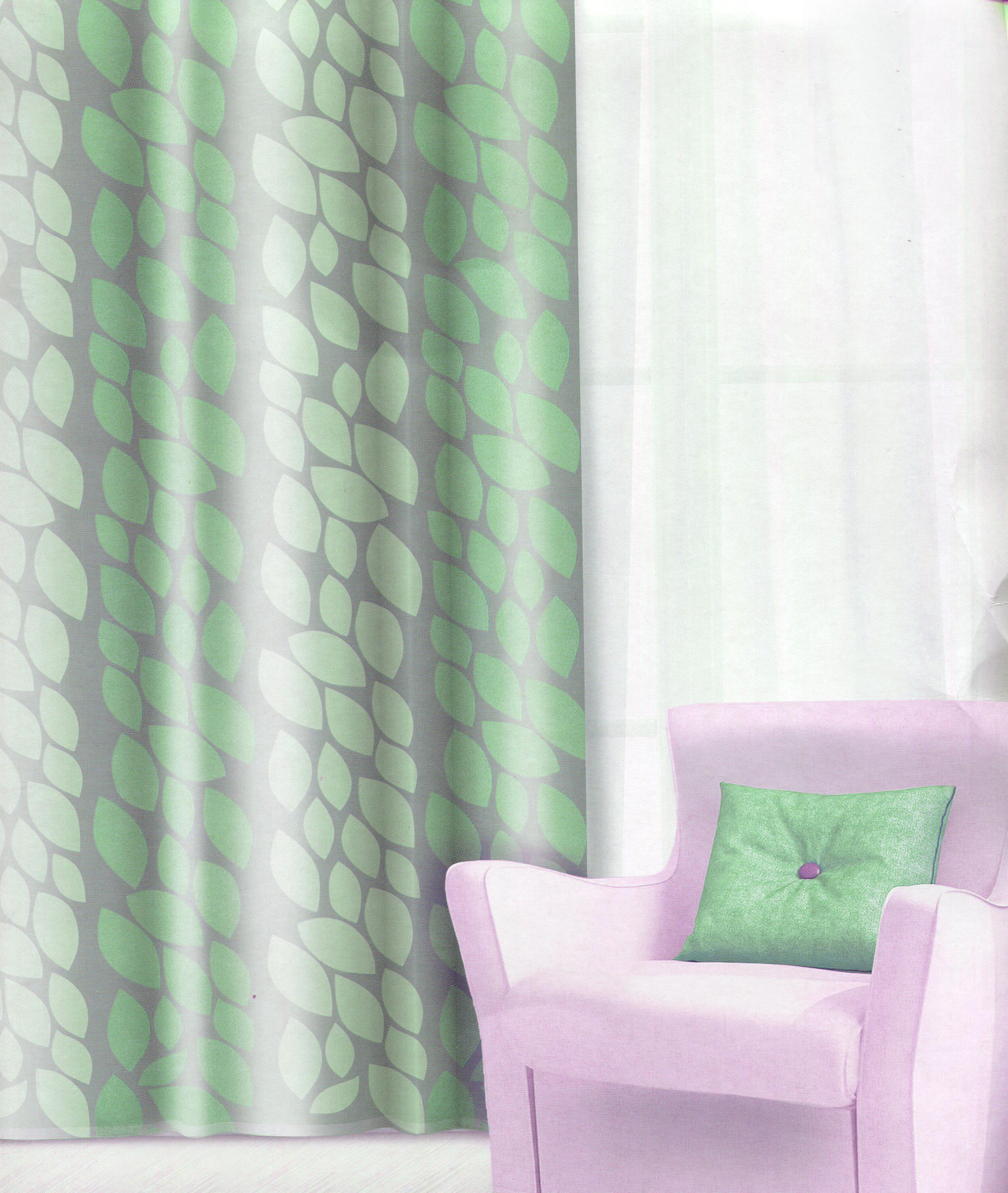Штора Home Queen Листья, на люверсах, цвет: зеленый, высота 275 см65014Изящная штора Home Queen Листья выполнена из плотного полотна (полиэстера) с эффектным жаккардовым рисунком в виде листьев. Затемняющая штора защищает комнату от дневного света и ночного уличного освещения. Плотная ткань и приятная цветовая гамма привлекут к себе внимание и органично впишутся в интерьер помещения. Эта штора будет долгое время радовать вас и вашу семью! Штора крепится на карниз при помощи люверсов. Диаметр отверстия люверса: 4 см.