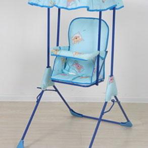 Фея Качели детские Малыш с тентом цвет голубой