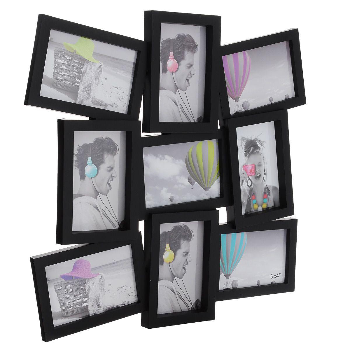 Фоторамка Image Art, на 9 фото, 10 см х 15 см5055398689660Фоторамка Image Art отлично дополнит интерьер помещения и поможет сохранить на память ваши любимые фотографии. Фоторамка выполнена из пластика черного цвета под дерево и представляет собой коллаж из 9 прямоугольных рамочек с вертикальным и горизонтальным расположением фотографий. Изделие подвешивается к стене. Такая рамка позволит сохранить на память изображения дорогих вам людей и интересных событий вашей жизни, а также станет приятным подарком для каждого.