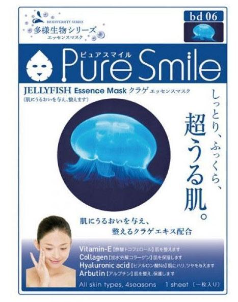Pure Smile Регенерирующая маска для лица Living Essences с эссенцией медузы 23мл..019909Еженедельный уход - это неотъемлемая процедура для полноценного ухода за кожей лица. Необходимо каждую неделю использовать различные маски. Преимущество нужно отдать увлажняющим, питательным, и маскам для повышения упругости кожи. Все эти функции вы найдете в линии PURE SMILE. Эти маски - настоящие волшебные палочки, способные моментально преобразить вашу кожу. Ведь сыворотка, которая используется для пропитки маски, имеет тройную концентрацию активных компонентов. За короткое время воздействия, маска отдает всю силу полезных ингредиентов вашей коже. Коллаген в составе сыворотки наполняет кожу влагой, восстанавливает плотность и упругость кожи. Эссенция медузы способствует регенерации кожи, укрепляет контур лица, выводит лишнюю воду и токсины, делая контур лица более четким, а тон - ровным. Эссенция медузы насыщает кожу необходимыми минералами и микроэлементами.