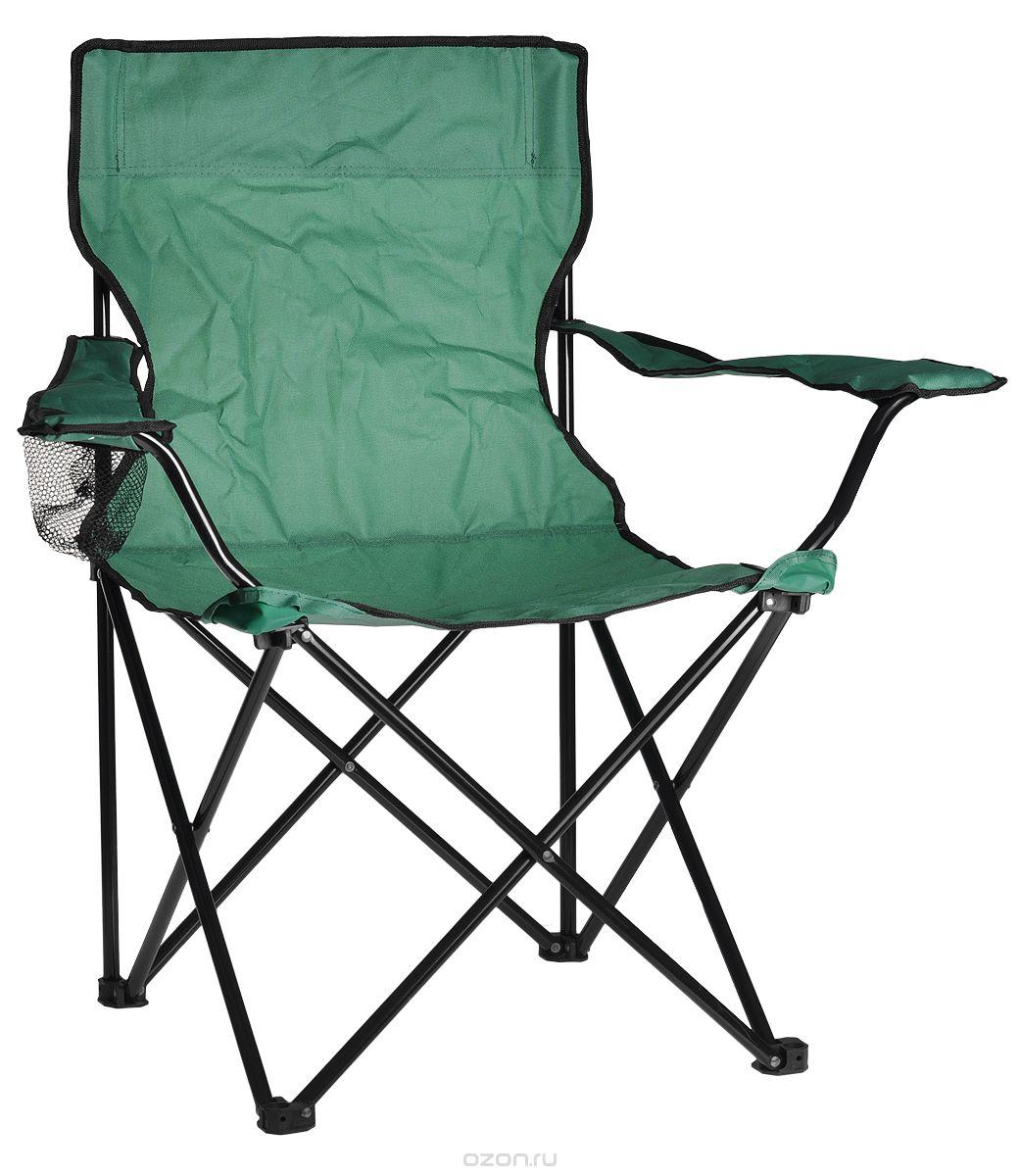 Кресло складное Reking, цвет: зеленыйC-015Комфортное складное кресло Reking с широким сиденьем, а также мягкой спинкой и подлокотниками, станет незаменимым предметом в походе, на природе, на рыбалке, а также на даче. На подлокотнике имеется отделение для бутылки или стакана. Кресло имеет прочный металлический каркас и покрытие из полиэстера, оно легко собирается и разбирается и не занимает много места, поэтому подходит для транспортировки и хранения дома. Максимальная нагрузка на кресло: 100 кг.
