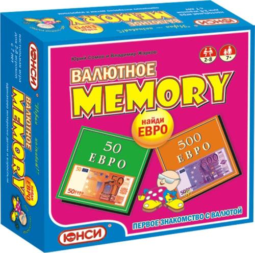 Юнси Настольная игра Найди Евро Валютное мемори0601111RUИгра Найди Евро основана на принципе всемирно известной классической игры Мемори , в которой надо найти как можно больше парных карт. В игре Найди Евро игроке не только ищут парные карты, но и зарабатывают деньги. Ведь каждая карта представляет собой валюту стран Европейского союза - евро.