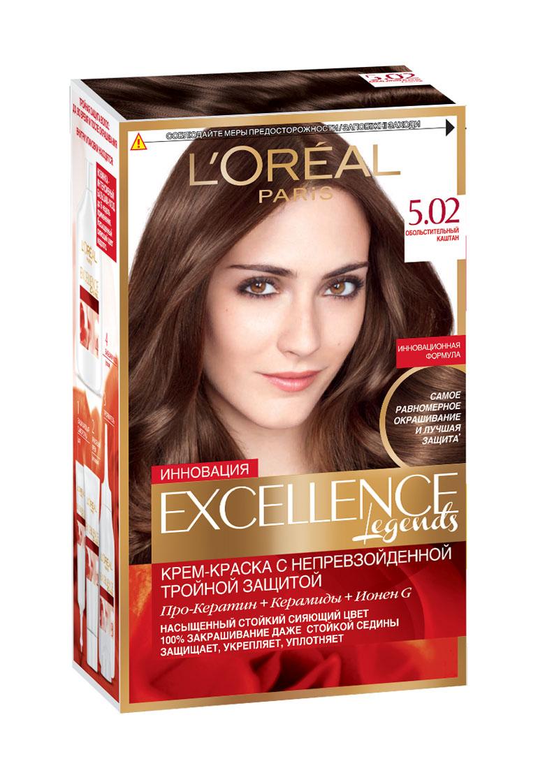 LOreal Paris Краска для волос Excellence, оттенок 5.02, Обольстительный каштан, 270 млA8463528