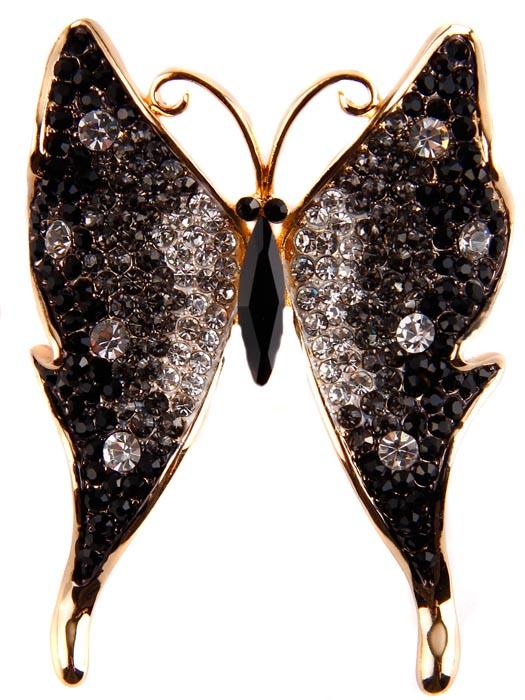 Брошь Черная бабочка. Бижутерный сплав, австрийские кристаллы. Начало ХХI векаER0032Брошь Черная бабочка. Бижутерный сплав, австрийские кристаллы. Западная Европа, начало ХХI века. Сохранность хорошая. Размер броши 6 х 4,5. Брошь в форме бабочки оригинально дополнит любой Ваш наряд. Изготовлена из гальванизированного бижутерного сплава. Украшена стеклянными кристаллами. Крепится при помощи застежки с винтовым замком (с предохранителем). Изящная черная мерцающая бабочка - оригинальный подарок себе и всем любителям бабочек и брошей.