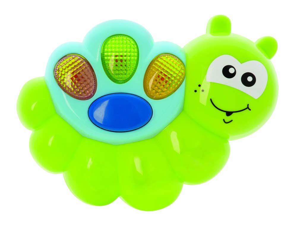 Музыкальная игрушка Мир детства Счастливая гусеничка31061Яркая музыкальная игрушка Мир детства  Счастливая гусеничка непременно понравится вашему ребенку и не позволит ему скучать. Гусеничка не только знает веселые мелодии, но и подмигивает разноцветными огоньками. Музыкальная игрушка Мир детства  Счастливая гусеничка  способствует развитию у ребенка музыкальных способностей, а также цветового и звукового восприятия, мелкой моторики рук и воображения.