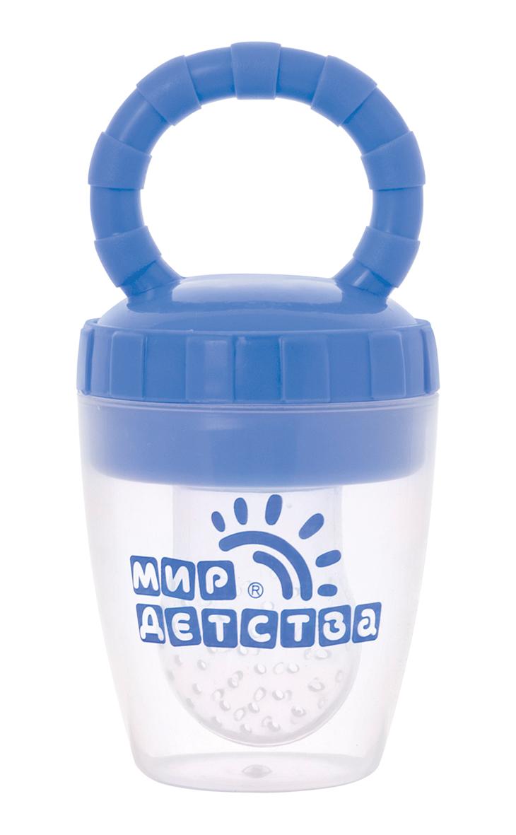 Силиконовый контейнер для прикорма (голубой)17508Силиконовый контейнер для прикорма предназначен для безопасного кормления малыша и обучения его жеванию кусочков с раннего возраста. Идеально подходит для протертых или нарезанных кусочками вареных овощей, мяса, свежих фруктов, ягод и других продуктов. Использование контейнера помогает ребенку учиться жевать, исключая возможность подавиться кусочками пищи. Малышу понравится есть самостоятельно! Ниблер