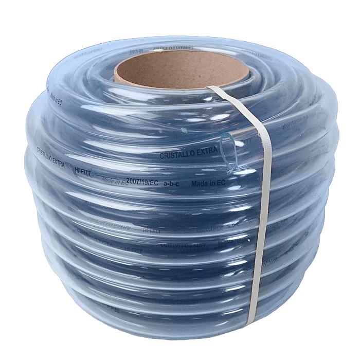 Шланг поливочный Fitt Cristallo Extra, однослойный, диаметр 24 мм, 40 м3730295рОднослойный неармированный шланг пищевого качества Fitt Cristallo Extra изготовлен из прозрачного ПВХ. Шланг предназначен для транспортировки жидкостей без напора в диапазоне температур от -20°С до +60°С. Можно применять для питьевой воды. Для использования без давления. Внешний диаметр шланга: 24 мм. Внутренний диаметр шланга: 19 мм.