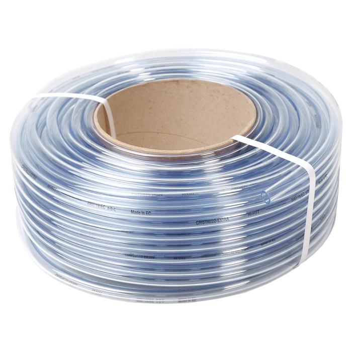 Шланг Кристалл однослойный неармированный 16X20 M.20 (536)9663200Однослойный неармированный шланг пищевого качества Fitt Cristallo Extra изготовлен из прозрачного ПВХ. Шланг предназначен для транспортировки жидкостей без напора в диапазоне температур от -20°С до +60°С. Можно применять для питьевой воды. Для использования без давления. Внешний диаметр шланга: 20 мм. Внутренний диаметр шланга: 16 мм.