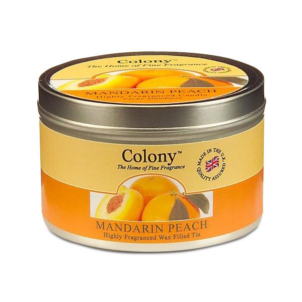 Wax Lyrical Мандарин и персик ароматизированная свеча в алюминии, 30 часовCH1018Бодрящий аромат спелого персика и сладкого мандарина