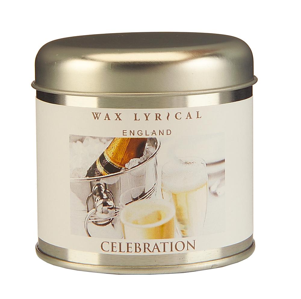 Wax Lyrical Торжество ароматическая свеча в алюминии, 35 часовWLT8742Создающий праздничное настроение аромат игристого вина с нотками зеленого яблока и груши на основе мускуса