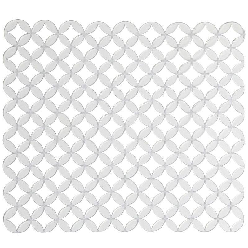 Коврик для раковины Umbra Meridian, цвет: прозрачный, 32 х 28,5 см330884-165Коврик для раковины Umbra Meridian защищает поверхность от царапин, задерживает крупный мусор, чтобы он не попал в сток. А так же он поможет смягчить удар от падения случайно выскользнувшей при мытье посуды тарелки или чашки, что предотвратит возможный скол посуды. Изготовлен из мягкой резины. Можно обрезать под необходимый размер. Коллекция Meridian создана с мыслью о простых геометрических линиях, которые окружают нас и создают мир вокруг. Получилась классика на современный лад, с которой кухонное пространство заиграет новыми гранями. Размер коврика: 32 см х 28,5 см.