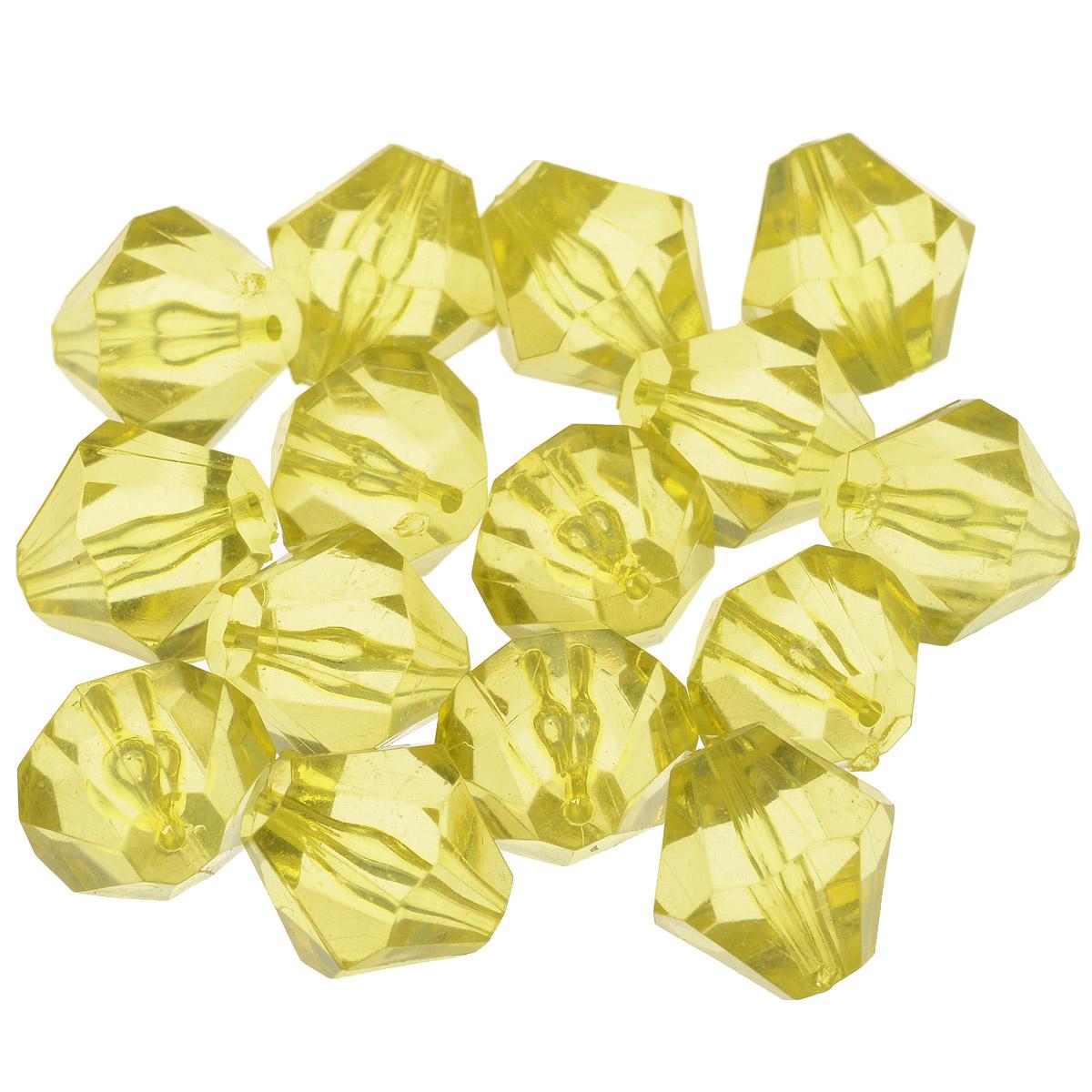 Бусины Астра, цвет: желтый (47), 16 мм х 17 мм, 25 г. 684982_47684982_47Набор бусин Астра, изготовленный из акрила, позволит вам своими руками создать оригинальные ожерелья, бусы или браслеты. Одноцветные ромбовидные бусины оригинального и яркого дизайна оснащены рельефными, многогранными поверхностями. Изготовление украшений - занимательное хобби и реализация творческих способностей рукодельницы, это возможность создания неповторимого индивидуального подарка. Размер бусины: 16 мм х 17 мм.
