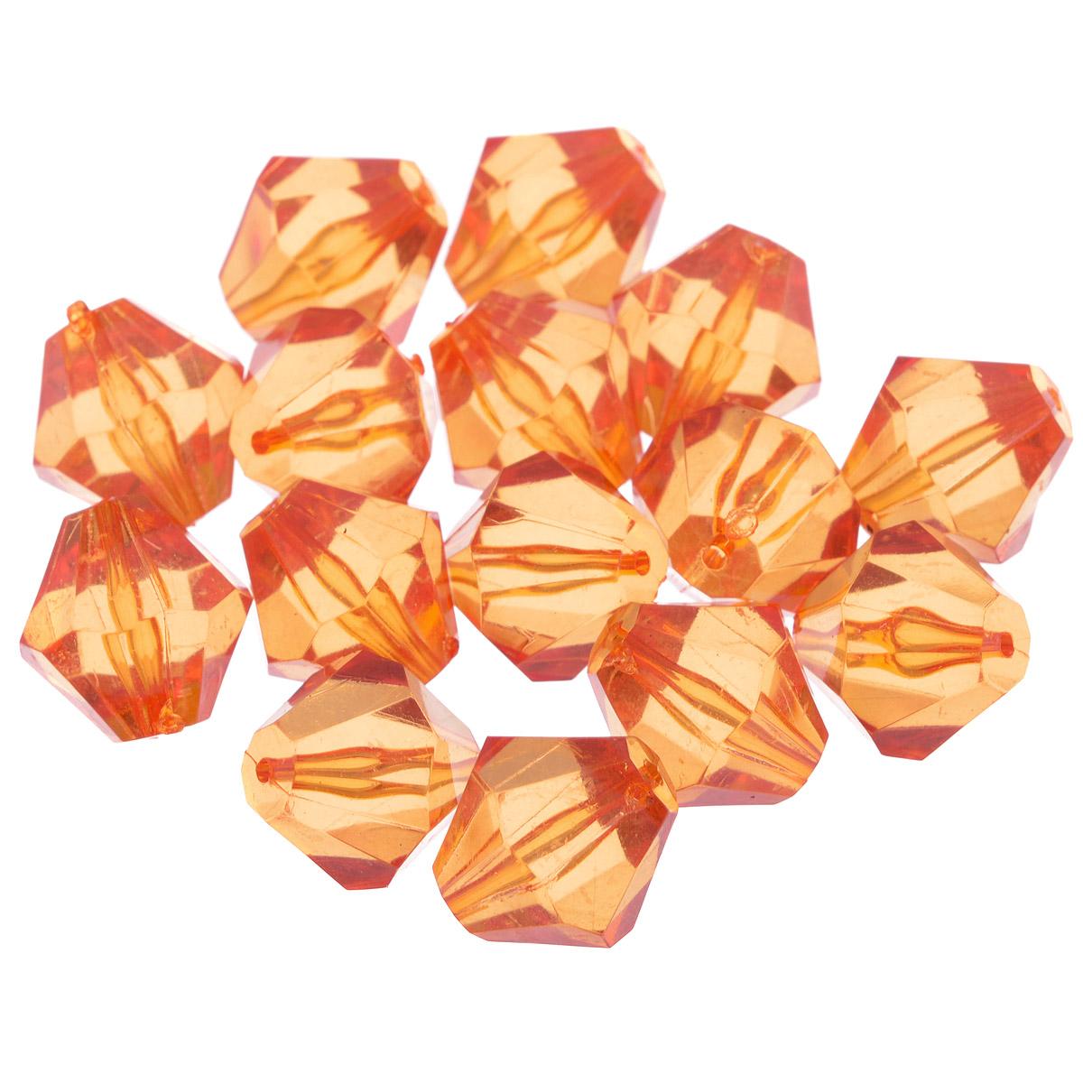 Бусины Астра, цвет: темно-оранжевый (15), 16 мм х 17 мм, 25 г. 684982_15684982_15Набор бусин Астра, изготовленный из акрила, позволит вам своими руками создать оригинальные ожерелья, бусы или браслеты. Одноцветные ромбовидные бусины оригинального и яркого дизайна оснащены рельефными, многогранными поверхностями. Изготовление украшений - занимательное хобби и реализация творческих способностей рукодельницы, это возможность создания неповторимого индивидуального подарка. Размер бусины: 16 мм х 17 мм.