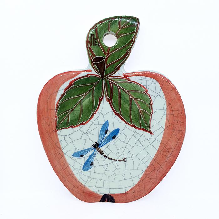 Сырная доска Яблочко красное. Стрекоза. Автор Елена ПотаповаPEapl-04