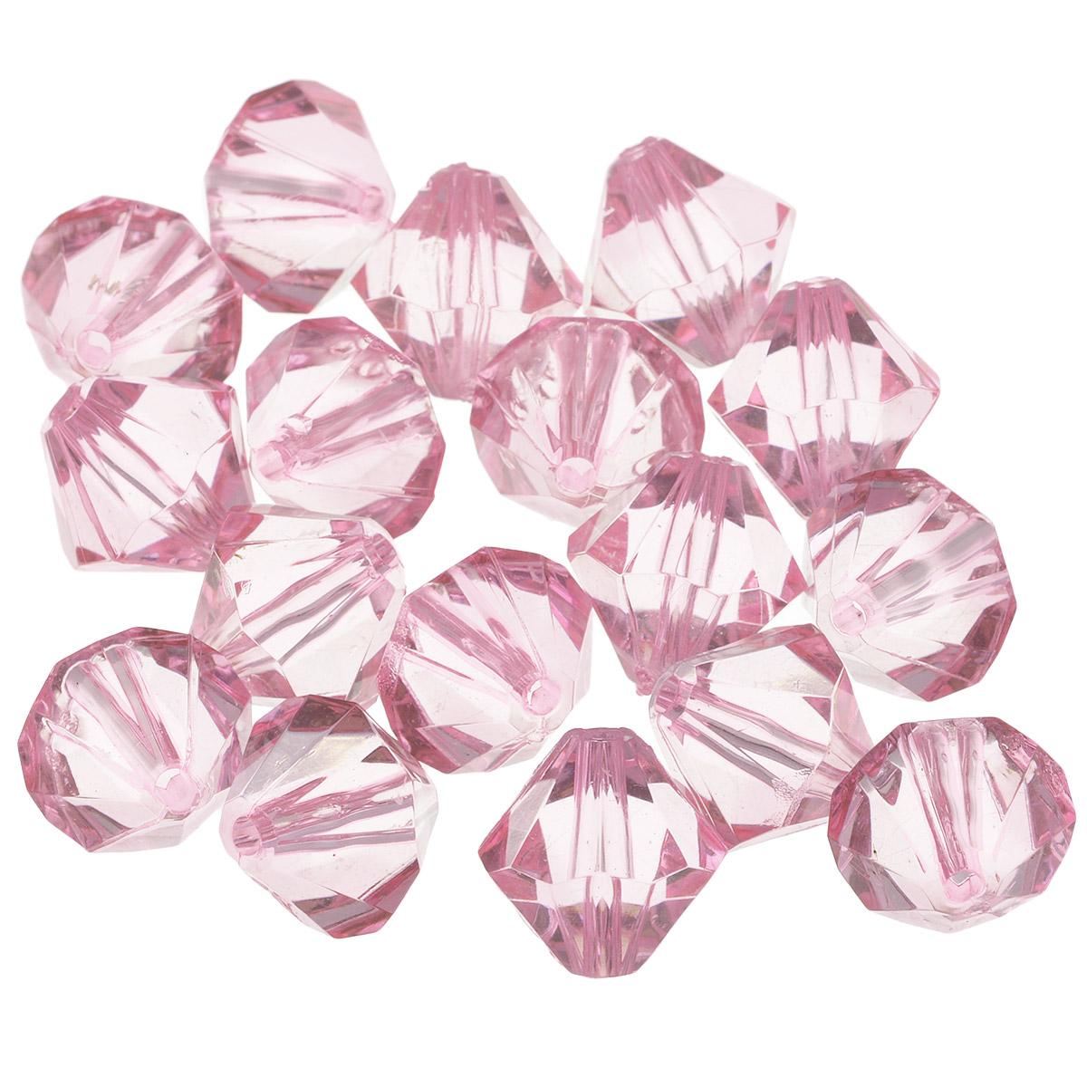 Бусины Астра, цвет: нежно-розовый (3), 16 мм х 17 мм, 25 г. 684982_3684982_3Набор бусин Астра, изготовленный из акрила, позволит вам своими руками создать оригинальные ожерелья, бусы или браслеты. Одноцветные ромбовидные бусины оригинального и яркого дизайна оснащены рельефными, многогранными поверхностями. Изготовление украшений - занимательное хобби и реализация творческих способностей рукодельницы, это возможность создания неповторимого индивидуального подарка. Размер бусины: 16 мм х 17 мм.