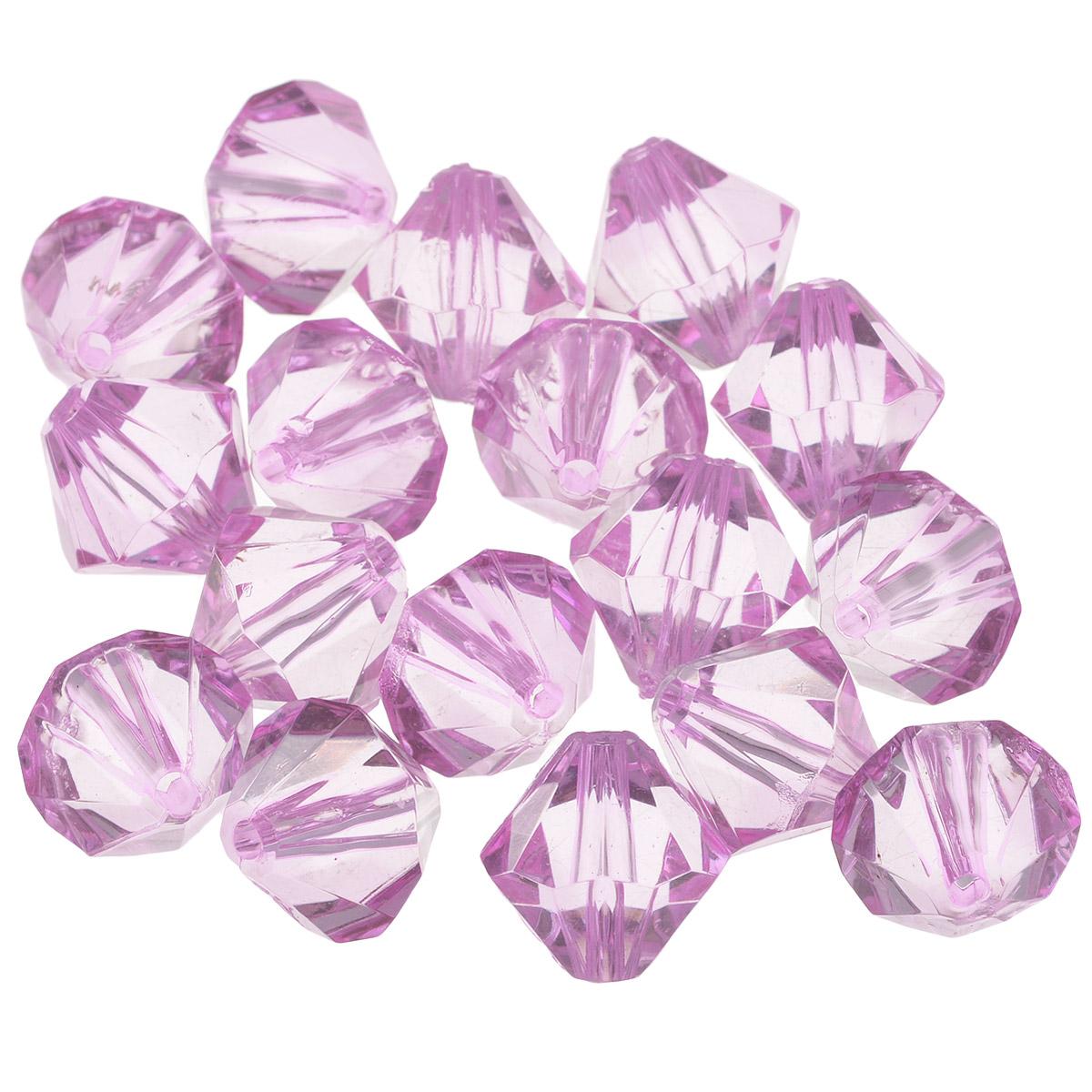 Бусины Астра, цвет: светло-фиолетовый (17), 16 мм х 17 мм, 25 г. 684982_17684982_17Набор бусин Астра, изготовленный из акрила, позволит вам своими руками создать оригинальные ожерелья, бусы или браслеты. Одноцветные ромбовидные бусины оригинального и яркого дизайна оснащены рельефными, многогранными поверхностями. Изготовление украшений - занимательное хобби и реализация творческих способностей рукодельницы, это возможность создания неповторимого индивидуального подарка. Размер бусины: 16 мм х 17 мм.