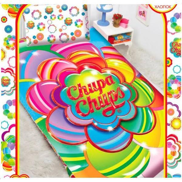 Комплект белья Chupa-Chups Радужный цветок (1,5-спальный КПБ, бязь, наволочки 50х70)521602Нав.(1шт.) 50*70, прост. 150*215, подод. 145*210 на пуговицах