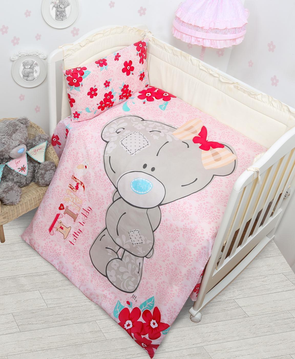 Постельное белье Taddy baby девочка (детский КПБ, бязь, наволочки 40х60)