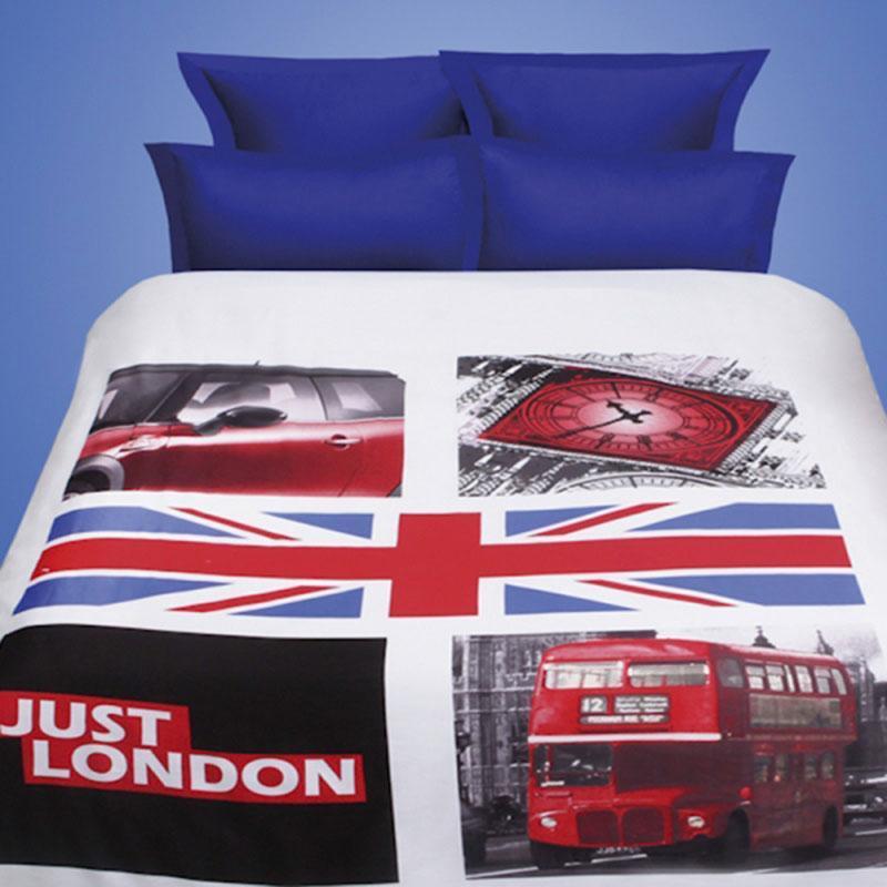 Комплект белья Mona Liza Premium 3D Britain (2-спальный КПБ, сатин, наволочки 50х70, 70х70)5244/2Нав.(2шт.) 50*70, (2шт.) 70*70 прост. 215*240, подод. 175*210 на пуговицах