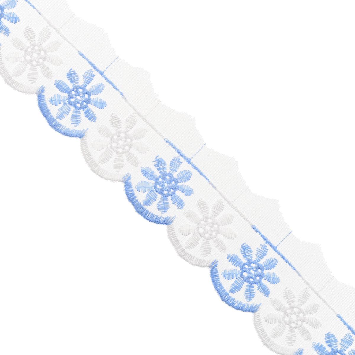 Тесьма отделочная Астра, цвет: голубой, ширина 5 см, длина 9 м. 77043787704378Отделочная тесьма Астра, изготовленная из хлопка, предназначена для декорирования. Такая тесьма может создает эффект ручной работы на предмете одежды, что придаст ей неповторимость, сэкономив при этом ваше время на создание изделия. Также она идеально подойдет для оформления различных творческих работ таких, как скрапбукинг, аппликация, декор коробок и открыток и многое другое. Тесьма наивысшего качества практична в использовании. Она станет незаменимым элементом в создании рукотворного шедевра. Ширина: 5 см. Длина: 9 м.