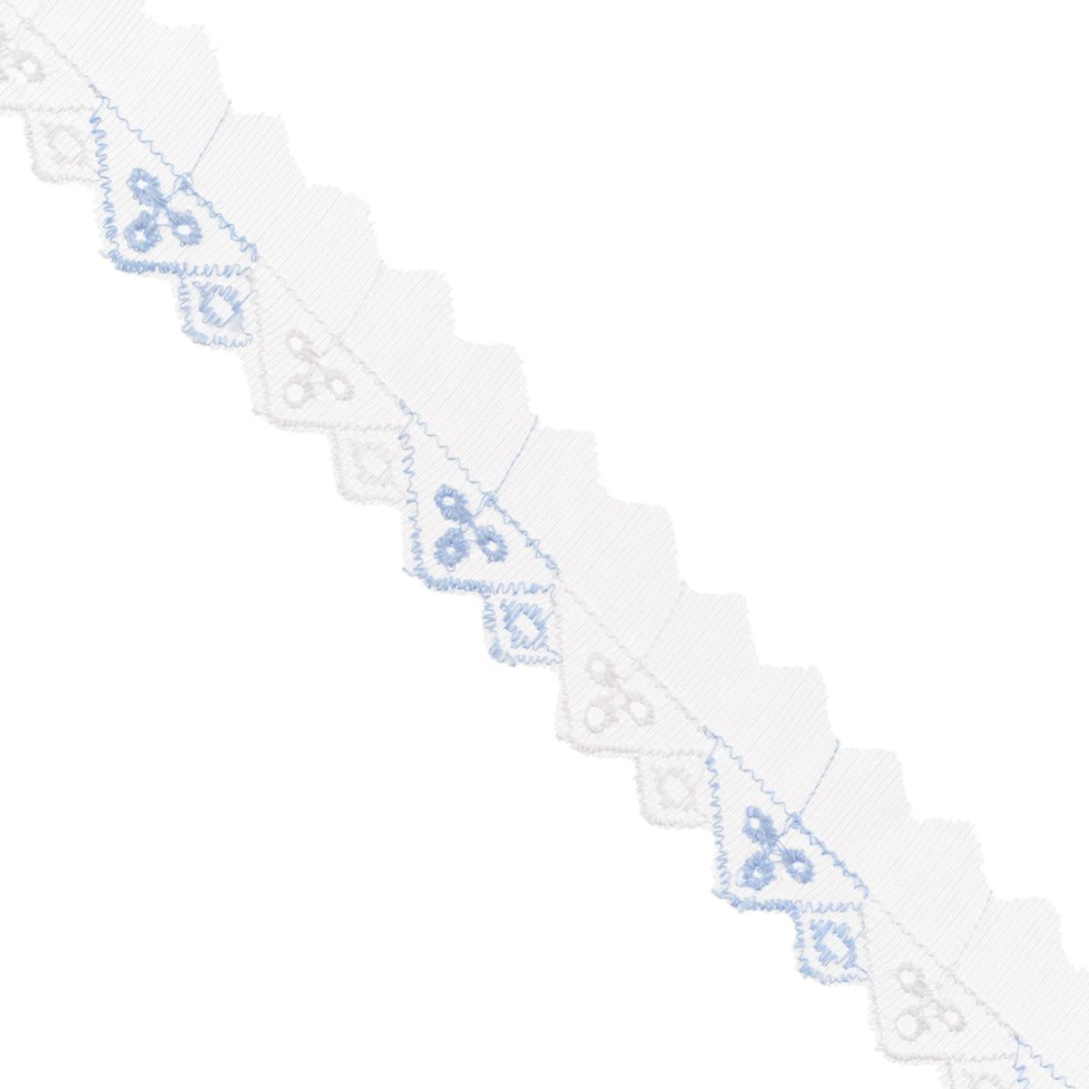 Тесьма отделочная Астра, цвет: голубой, ширина 3 см, длина 9 м. 77043777704377Отделочная тесьма Астра, изготовленная из хлопка, предназначена для декорирования. Такая тесьма может создает эффект ручной работы на предмете одежды, что придаст ей неповторимость, сэкономив при этом ваше время на создание изделия. Также она идеально подойдет для оформления различных творческих работ таких, как скрапбукинг, аппликация, декор коробок и открыток и многое другое. Тесьма наивысшего качества практична в использовании. Она станет незаменимым элементом в создании рукотворного шедевра. Ширина: 3 см. Длина: 9 м.