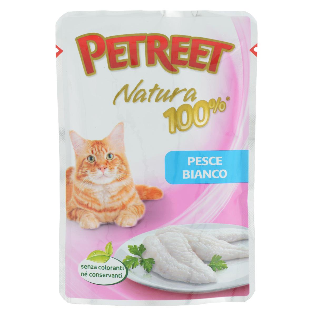 Консервы для кошек Petreet, с белой рыбой, 85 гА55003Консервы для кошек Petreet - это линейка кормов, в которых содержится белок только животного происхождения. Это помогает защитить вашу кошку от пищевой аллергии, тем самым обеспечивая ее полезное и вкусное питание. Консервы для кошек Petreet специально разработаны без добавления консервантов, красителей и усилителей вкуса. Характеристики: Состав: белая рыба (60%), рисовая мука (1%), модифицированный крахмал. Пищевая ценность: белки - 10%, влажность - 86%, масла - 1,0%, клетчатка - 0,5%, зола - 1 %. Вес: 85 г. Товар сертифицирован.