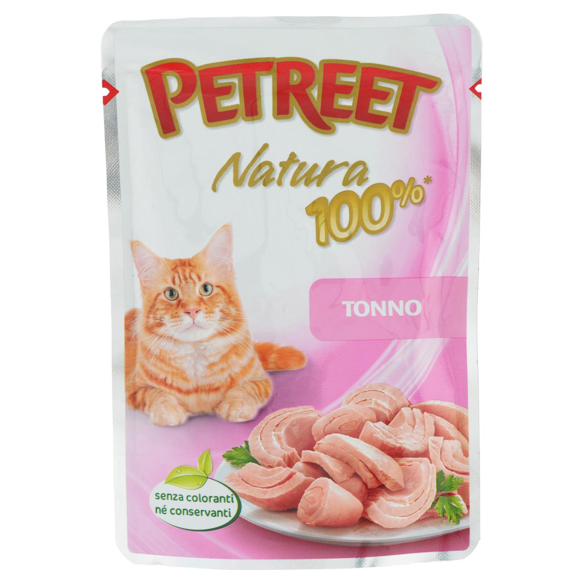 Консервы для кошек Petreet, с тунцом, 85 гА55000Консервы для кошек Petreet - это линейка кормов, в которых содержится белок только животного происхождения. Это помогает защитить вашу кошку от пищевой аллергии, тем самым обеспечивая ее полезное и вкусное питание. Консервы для кошек Petreet специально разработаны без добавления консервантов, красителей и усилителей вкуса. Характеристики: Состав: тунец (60%), рисовая мука (1%), модифицированный крахмал. Пищевая ценность: белки - 13%, влажность - 83%, масла - 0,5%, клетчатка - 0,5%, зола - 1 %. Вес: 85 г. Товар сертифицирован.