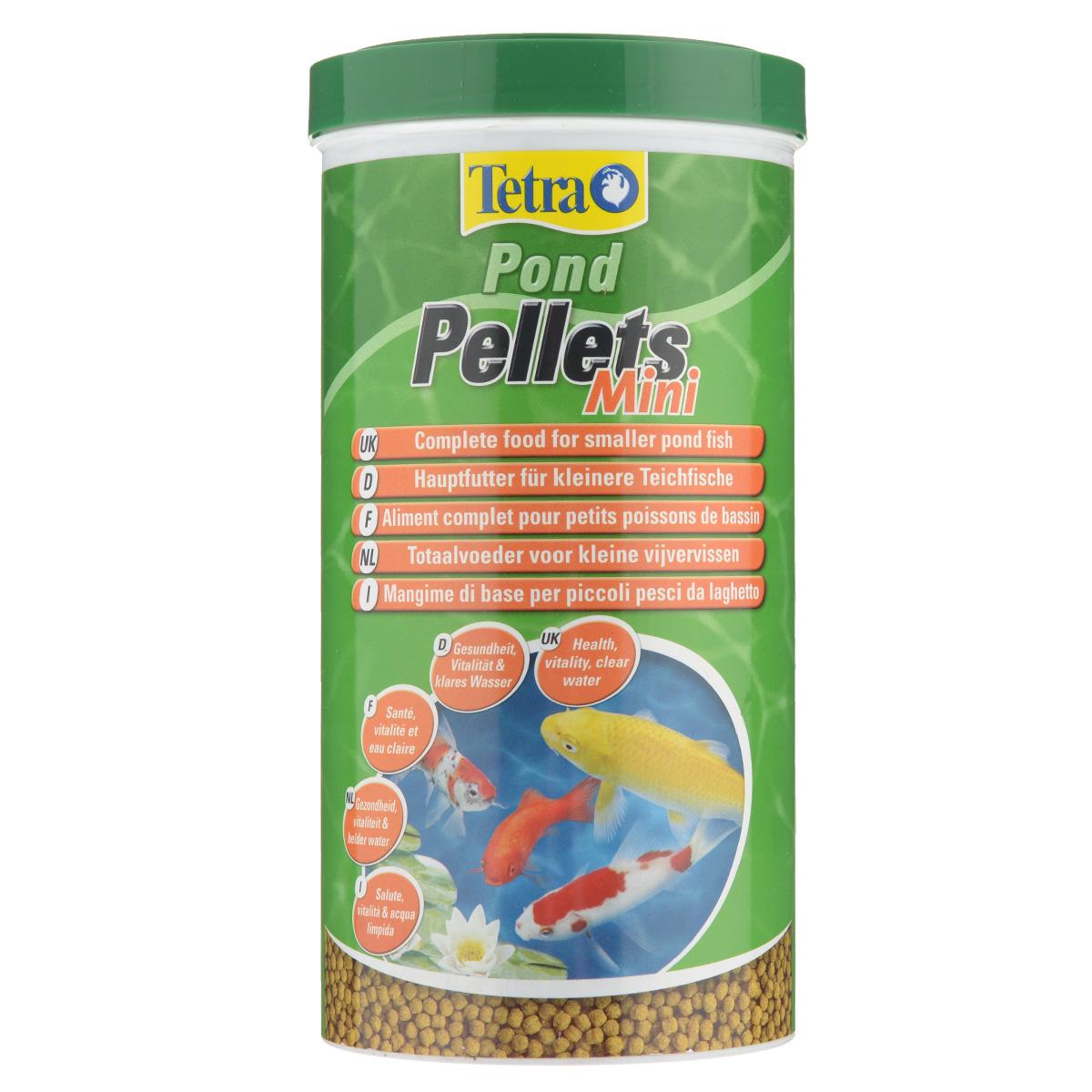 Корм сухой Tetra Pond Pellets Mini для всех видов прудовых рыб, в виде шариков, 1 л151918Корм Tetra Pond Pellets Mini - это идеальный корм в виде шариков для всех видов прудовых рыб длиной до 20 см. Обеспечивает полноценное и сбалансированное питание. быстро размягчается в воде и легко переваривается рыбами, обеспечивает небольшое количество отходов и не загрязняет воду. Рекомендации по кормлению: кормите не менее 2-3 раз в день в таком количестве, которое ваши рыбы могут съесть в течение нескольких минут. Характеристики: Состав: зерновые культуры, экстракты растительного белка, растительные продукты, рыба и побочные рыбные продукты, дрожжи, масла и жиры, водоросли, минеральные вещества. Пищевая ценность: сырой белок - 28%, сырые масла и жиры - 3.5%, сырая клетчатка - 2%, влага - 7%. Добавки: витамины, провитамины и химические вещества с аналогичным воздействием, витамин А 28800 МЕ/кг, витамин Д3 1800 МЕ/кг. Комбинации элементов: Е5 Марганец 74 мг/кг, Е6 Цинк 44 мг/кг, Е1 Железо 29 мг/кг, Е3 Кобальт 0,5 мг/кг....