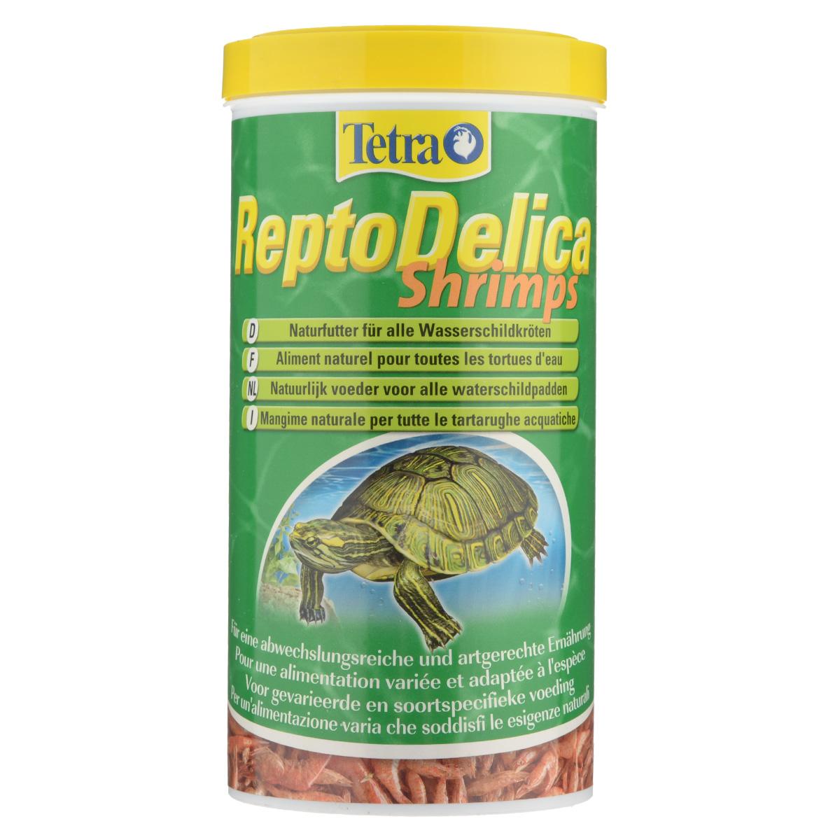 Корм-лакомство для водных черепах Tetra ReptoDelica Shrimps, креветки, 1 л169265Дополнительный корм-лакомство Tetra ReptoDelica Shrimps для плотоядных черепах. Цельные сублимированные креветки для удовольствия и разнообразия в еде. Богаты минералами - способствуют правильному развитию костей и панциря. Отличная добавка. Рекомендации по кормлению: давайте рептилиям такое количество корма, которое они смогут съесть за короткое время. Через 30 минут удалите из воды несъеденные остатки. Состав: 100 % креветки. Вес: 1000 мл (100 г). Товар сертифицирован.
