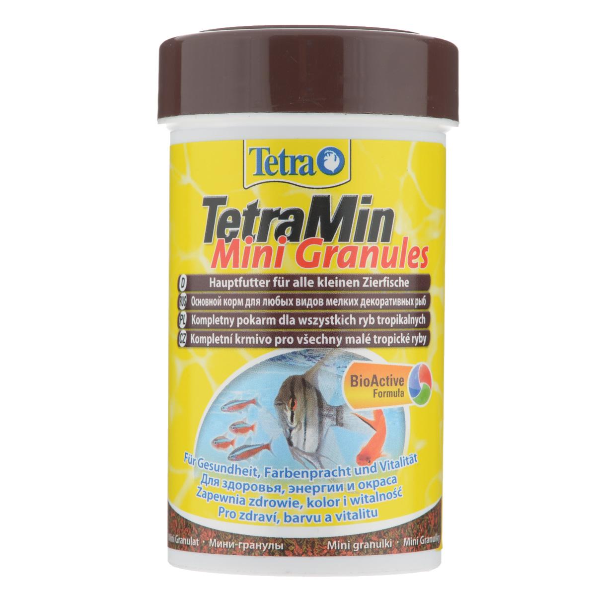 Корм сухой TetraMin Mini Granules для всех видов мелких декоративных рыб, в виде мини-гранул, 100 мл199057Корм TetraMin Mini Granules - это биологически сбалансированный корм в виде мини-гранул для здоровой рыбы и чистой воды. Особенности TetraMin Mini Granules: медленно погружающиеся гранулы идеально подходят для любых видов небольших рыб, питающихся с средних слоях воды. Рекомендации по кормлению: кормить несколько раз в день маленькими порциями. Характеристики: Состав: рыба и побочные рыбные продукты, экстракты растительного белка, зерновые культуры, овощи, растительные продукты, дрожжи, моллюски и раки, масла и жиры, водоросли, минеральные вещества. Пищевая ценность: сырой белок - 44%, сырые масла и жиры - 11%, сырая клетчатка - 2%, влага - 8%. Добавки: витамины, провитамины и химические вещества с аналогичным воздействием: витамин А 29870 МЕ/кг, витамин Д3 1870 МЕ/кг. Комбинации элементов: Е5 Марганец 67 мг/кг, Е6 Цинк 40 мг/кг, Е1 Железо 26 мг/кг. Красители, консерванты, антиоксиданты. Вес:...