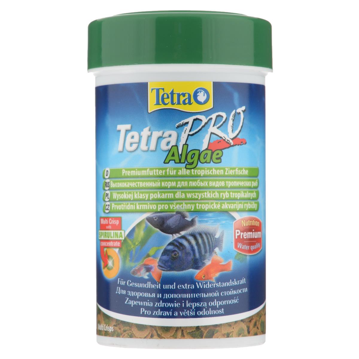 Корм сухой Tetra TetraPro. Algae для всех видов тропических рыб, чипсы, 100 мл (18 г)138988Полноценный высококачественный корм Tetra TetraPro. Algae для всех видов тропических рыб разработан для поддержания здоровья и придания дополнительной стойкости. Особенности Tetra TetraPro. Algae: - щадящая низкотемпературная технология изготовления для высокой питательной ценности и стабильности витаминов; - концентрат спирулина для повышения сопротивляемости организма; - инновационная форма чипсов для минимального загрязнения воды; - идеально подходит для растительноядных рыб; - легкое кормление. Рекомендации по кормлению: кормить несколько раз в день маленькими порциями. Состав: рыба и побочные рыбные продукты, зерновые культуры, экстракты растительного белка, дрожжи, моллюски и раки, масла и жиры, водоросли (спирулина 1%). Аналитические компоненты: сырой белок - 46%, сырые масла и жиры - 12%, сырая клетчатка - 3%, влага - 9%. Добавки: витамины, провитамины и химические вещества с аналогичным воздействием,...