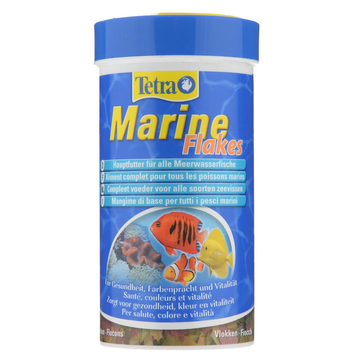 Корм Tetra Marine Flakes для любых морских рыб, в виде в хлопьев, 250 мл750852Корм Tetra Marine Flakes - полноценный основной корм для мелких и крупных морских рыб в виде хлопьев. Идеально сбалансированные компоненты (фукус, водоросли спирулины, высококачественные рыбные жиры и морские креветки) гарантируют полноценное и здоровое питание. Стандартные и крупные хлопья (XL) являются идеальным кормом для рыб средних и больших размеров. Рекомендации по кормлению: кормить несколько раз в день маленькими порциями. Характеристики: Состав: рыба и побочные рыбные продукты, растительные продукты, экстракты растительного белка, дрожжи, зерновые культуры, масла и жиры, водоросли, минеральные вещества. Пищевая ценность: сырой белок - 46%, сырые масла и жиры - 8,5%, сырая клетчатка - 2%, влага - 6%. Добавки: витамины, провитамины и химические вещества с аналогичным воздействием, витамин А 36400 МЕ/кг, витамин Д3 2045 МЕ/кг. Комбинации элементов: Е5 Марганец 78 мг/кг, Е6 Цинк 46 мг/кг, Е1 Железо...