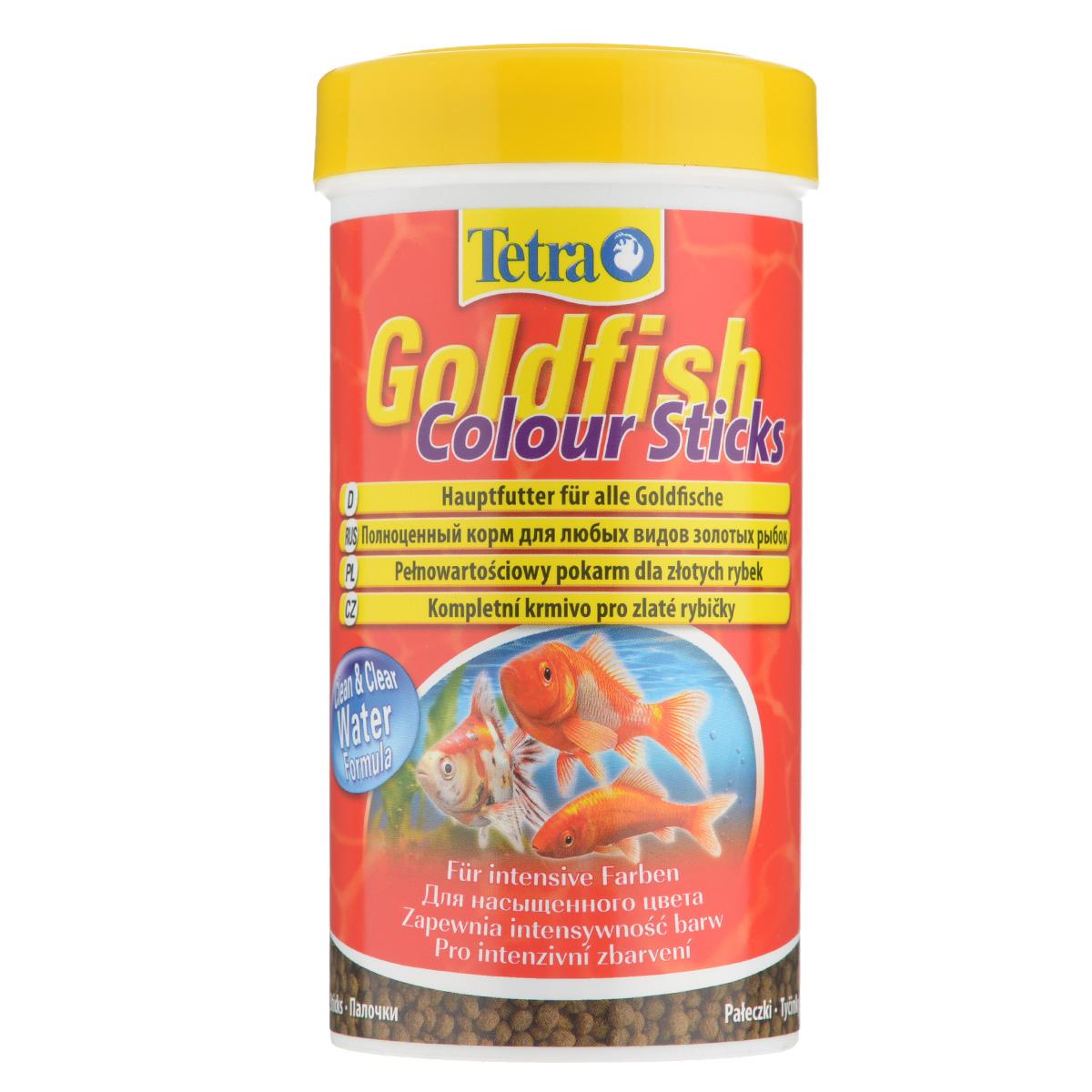 Корм сухой Tetra Goldfish Colour Sticks для любых видов золотых рыбок, в виде палочек, 250 мл199071Корм Tetra Goldfish Colour Sticks - это высококачественный сбалансированный питательный корм для любых видов золотых рыбок. Превосходное качество корма - гарантия лучшего для ваших золотых рыбок. Особенности Tetra Goldfish Colour Sticks: усилители цвета обеспечивают яркую и интенсивную окраску, формула Clean & Clean Water и запатентованная формула BioActive - для поддержания здоровья и продолжительности жизни. Рекомендации по кормлению: кормить несколько раз в день маленькими порциями. Характеристики: Состав: рыба и побочные рыбные продукты, экстракты растительного белка, зерновые культуры, растительные продукты, овощи, дрожжи, моллюски и раки, масла и жиры, водоросли (спирулина максима 6,0%), минеральные вещества. Пищевая ценность: сырой белок - 30%, сырые масла и жиры - 6%, сырая клетчатка - 2,0%, влага - 8%. Добавки: витамины, провитамины и химические вещества с аналогичным воздействием:...