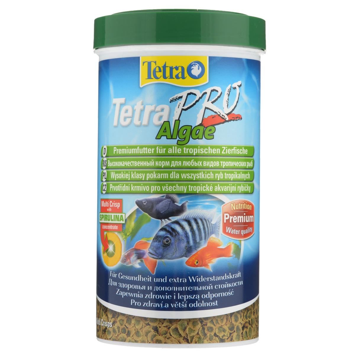 Корм сухой Tetra TetraPro. Algae для всех видов тропических рыб, чипсы, 500 мл (95 г)204492Полноценный высококачественный корм Tetra TetraPro. Algae для всех видов тропических рыб разработан для поддержания здоровья и придания дополнительной стойкости. Особенности Tetra TetraPro. Algae: - щадящая низкотемпературная технология изготовления для высокой питательной ценности и стабильности витаминов; - концентрат спирулина для повышения сопротивляемости организма; - инновационная форма чипсов для минимального загрязнения воды; - идеально подходит для растительноядных рыб; - легкое кормление. Рекомендации по кормлению: кормить несколько раз в день маленькими порциями. Состав: рыба и побочные рыбные продукты, зерновые культуры, экстракты растительного белка, дрожжи, моллюски и раки, масла и жиры, водоросли (спирулина 1%). Аналитические компоненты: сырой белок - 46%, сырые масла и жиры - 12%, сырая клетчатка - 3%, влага - 9%. Добавки: витамины, провитамины и химические вещества с аналогичным воздействием,...
