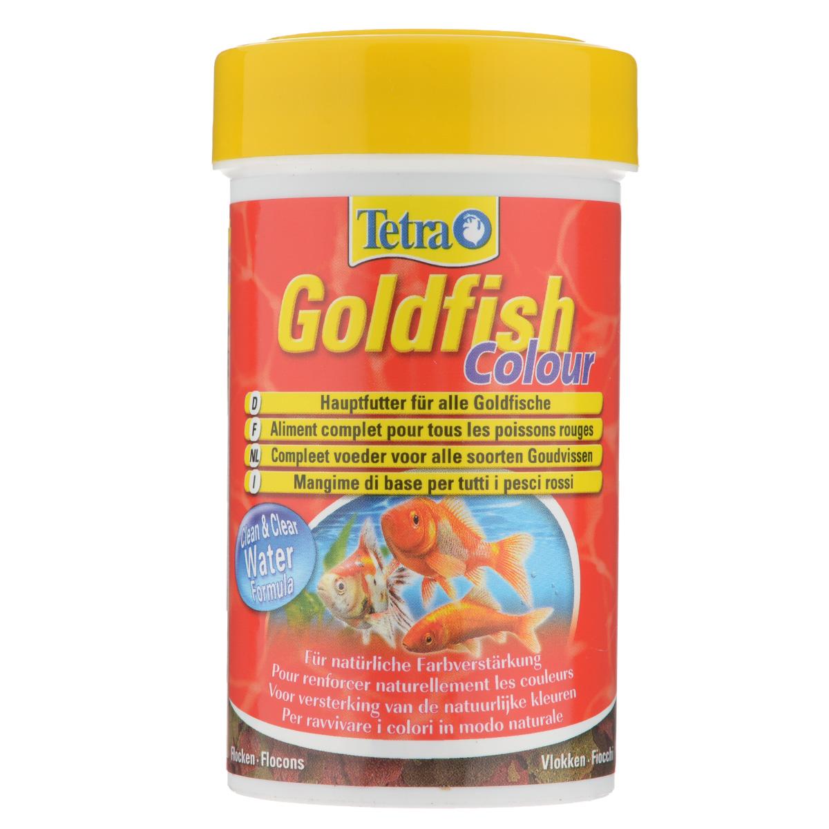 Корм Tetra Goldfish Colour для любых видов золотых рыбок, в виде хлопьев, 100 мл183742Корм Tetra Goldfish Colour - высококачественный сбалансированный питательный корм для любых видов золотых рыбок. Особенности Tetra Goldfish Colour: обогащен каротиноидами для усиления естественной окраски, с формулой Clean & Clear Water для чистой и прозрачной воды и запатентованной формулой BioActive - для продолжительной и здоровой жизни ваших питомцев. Рекомендации по кормлению: кормить несколько раз в день маленькими порциями. Характеристики: Состав: рыба и побочные рыбные продукты, зерновые культуры, дрожжи, экстракты растительного белка, моллюски и раки, масла и жиры, водоросли, сахар. Пищевая ценность: сырой белок - 43%, сырые масла и жиры - 11%, сырая клетчатка - 2%, влага - 6%. Добавки: витамины, провитамины и химические вещества с аналогичным воздействием: витамин А 29360 МЕ/кг, витамин Д3 1830 МЕ/кг. Комбинации элементов: Е5 Марганец 29 мг/кг, Е6 Цинк 17 мг/кг,...