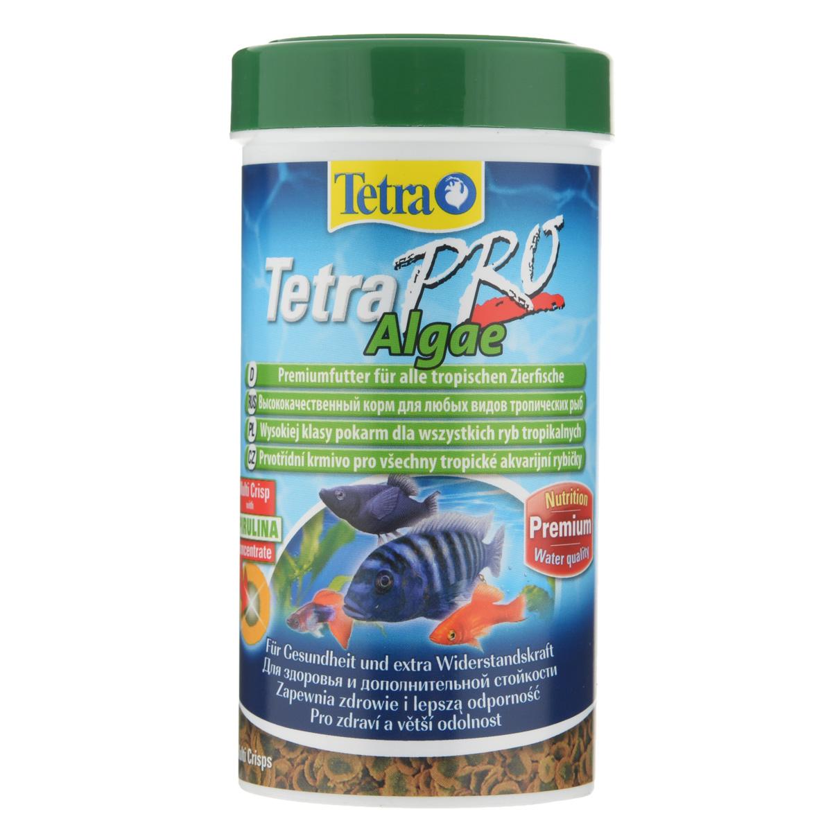 Корм сухой Tetra TetraPro. Algae для всех видов тропических рыб, чипсы, 250 мл (45 г)139121Полноценный высококачественный корм Tetra TetraPro. Algae для всех видов тропических рыб разработан для поддержания здоровья и придания дополнительной стойкости. Особенности Tetra TetraPro. Algae: - щадящая низкотемпературная технология изготовления для высокой питательной ценности и стабильности витаминов; - концентрат спирулина для повышения сопротивляемости организма; - инновационная форма чипсов для минимального загрязнения воды; - идеально подходит для растительноядных рыб; - легкое кормление. Рекомендации по кормлению: кормить несколько раз в день маленькими порциями. Состав: рыба и побочные рыбные продукты, зерновые культуры, экстракты растительного белка, дрожжи, моллюски и раки, масла и жиры, водоросли (спирулина 1%). Аналитические компоненты: сырой белок - 46%, сырые масла и жиры - 12%, сырая клетчатка - 3%, влага - 9%. Добавки: витамины, провитамины и химические вещества с аналогичным воздействием,...