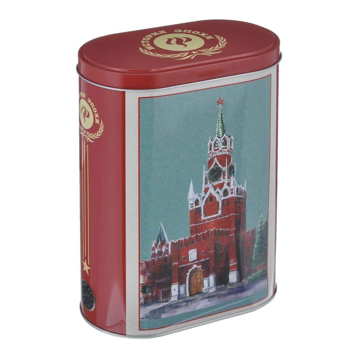 Банка для сыпучих продуктов Феникс-презент Кремль, 1,5 л37653Банка для сыпучих продуктов Феникс-презент Кремль, изготовленная из металла, декорирована изображением Московского Кремля. Банка оснащена плотно закрывающейся крышкой с откидным механизмом. Благодаря этому внутри сохраняется герметичность, и продукты дольше остаются свежими. Изделие предназначено для хранения различных сыпучих продуктов: круп, чая, сахара, орехов и многого другого. Функциональная и вместительная, такая банка станет незаменимым аксессуаром на любой кухне. Нельзя мыть в посудомоечной машине. Объем: 1,5 л. Размер (по верхнему краю): 13,5 см х 7,5 см. Высота банки (без учета крышки): 19 см.
