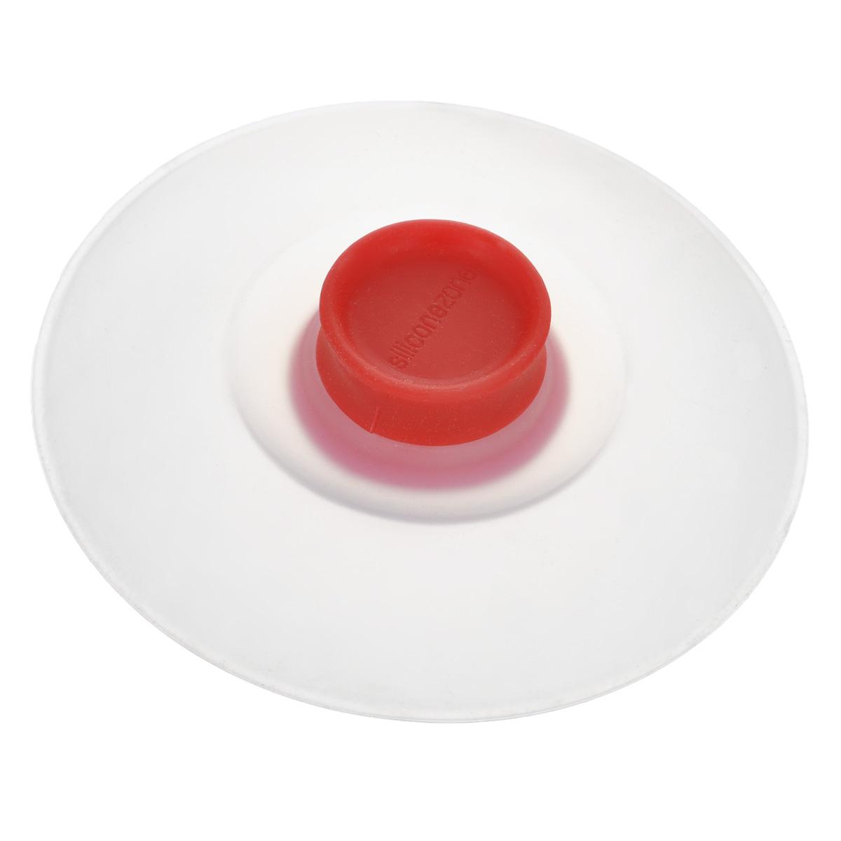"""Крышка для заваривания чая """"Siliconezone"""", цвет: красный, диаметр 10,5 см"""