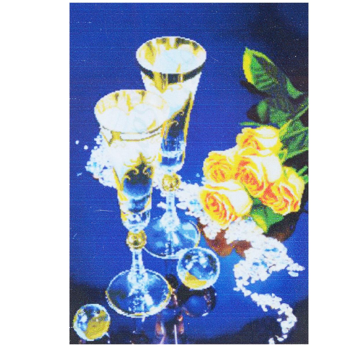 Набор для изготовления картины со стразами Cristal Бокалы, 64 см х 90 см7710757.9123Набор для изготовления картины со стразами Cristal Бокалы поможет вам создать свой личный шедевр. Работа, выполненная своими руками, станет отличным подарком для друзей и близких! Набор содержит: - полотно-схема с нанесенным рисунком и клеевым слоем (размер 71 см х 98 см), - пластиковое блюдце; - стразы (25 цветов), - клей для страз; - карандаш; - точилка; - пинцет; - 2 ватные палочки; - 2 маленьких пакетика; - инструкция на русском языке. Подарите близким тепло ваших рук!