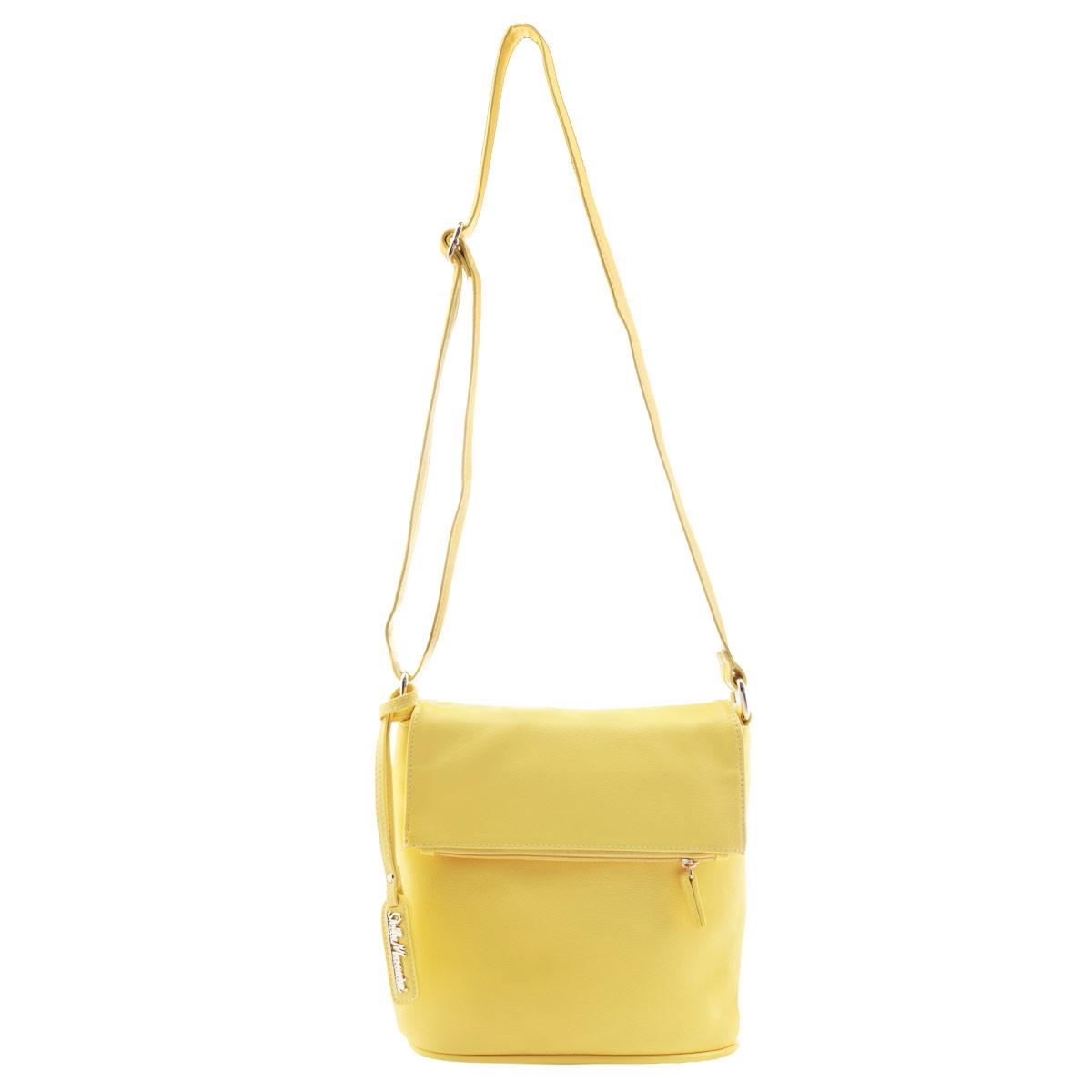 Сумка женская Stella Mazarini, цвет: желтый. 12-R38553B12-R38553BИзысканная женская сумка Stella Mazarini выполнена из искусственной качественной кожи. Сумка закрывается клапаном на магнитную кнопку и на пластиковую застежку-молнию. В клапане имеется вместительный карман, закрывающийся на застежку-молнию. Внутри одно большое отделение, небольшой втачной кармашек на застежке- молнии и два накладных кармашка для телефона, мелочей. На задней стенке - втачной карман на застежке- молнии. Роскошная сумка внесет элегантные нотки в ваш образ и подчеркнет ваше отменное чувство стиля.