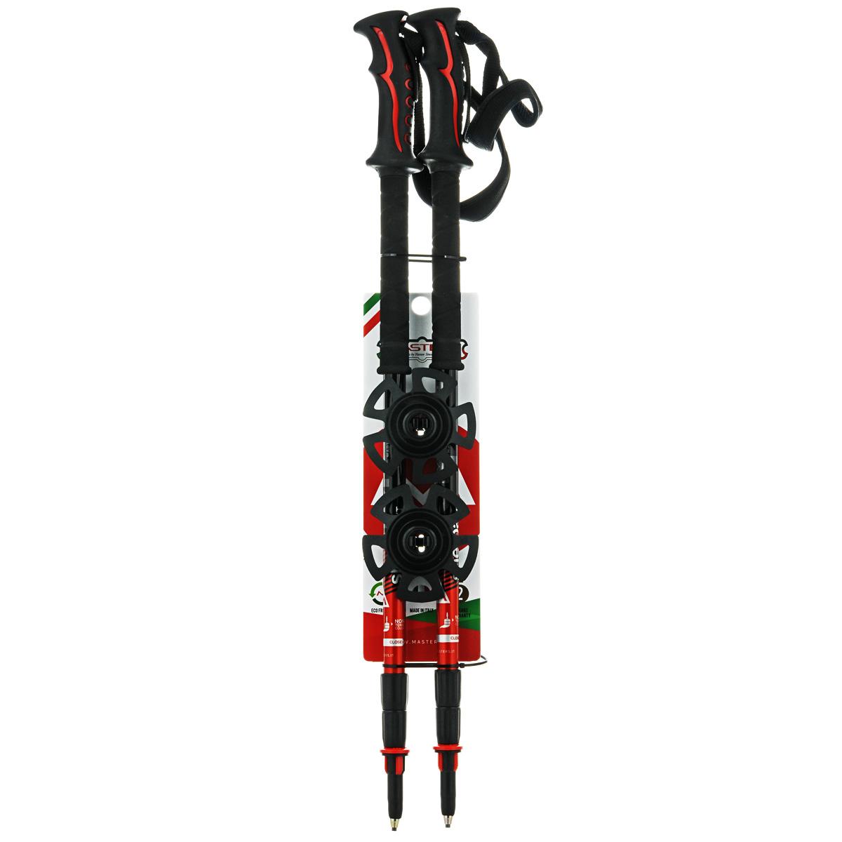 Палки для трекинга Masters Sherpa XT, телескопические, 65-140 см01S0514Masters Sherpa XT - телескопические трекинговые палки, отличающиеся особой прочностью и запатентованной системой секционной блокировки SBS - Super Blocking System, разработанной по цанговому принципу с расширенной площадью блокировки колена, позволяющей выдерживать большие нагрузки. Разработаны для экстремальных походов и восхождений с дополнительным весом. Имеют эргономичную рукоятку Soft Touch отличающуюся особой мягкой поверхностью с влагоотводящей текстурой, а также дополнительным продолжением для низкого хвата Foam, что позволяет произвести комфортный хват при любом градусе подъема или спуска. Эргономичный регулируемый темляк с запатентованной системой блокировки длины при изменении угла Automatic Stop. При весе всего в 280 г используется легкий, упругий и самый прочный алюминиевый сплав 7075. Палки телескопические состоят из 3 секций для удобства транспортировки на рюкзаке или ином снаряжении. В нижних двух секциях расположена метрическая...