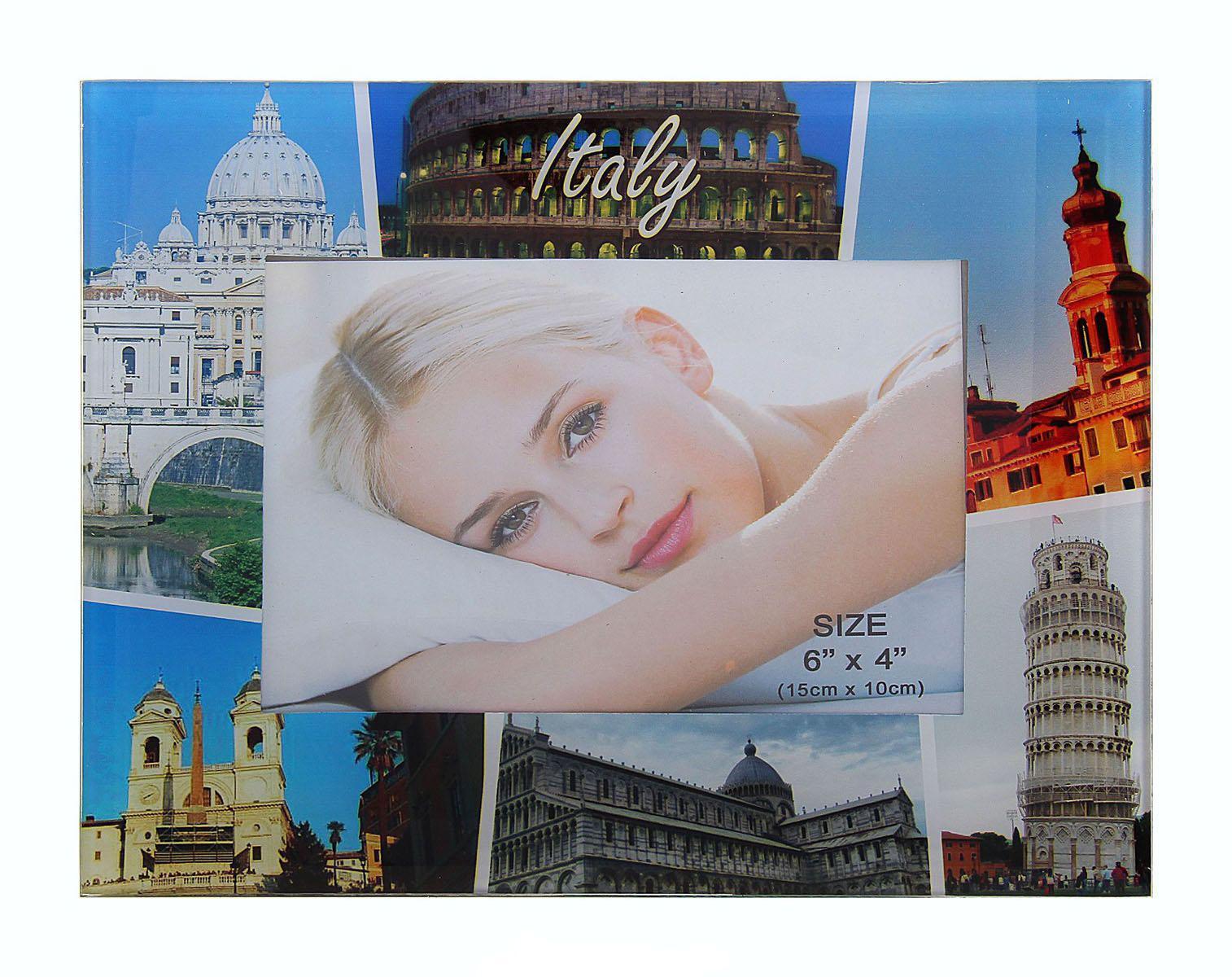 Фоторамка Sima-land Italy, 10 х 15 см763502Фоторамка Sima-land Italy - прекрасный выбор для тех, кто хочет сделать запоминающийся презент родным и близким. Поможет создать атмосферу праздника. Такой подарок запомнится надолго. В нем прекрасно сочетаются цена и качество.