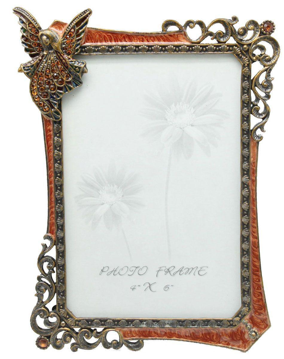 """Фоторамка Jardin D'Ete """"Ангелы"""", цвет: малиновый, 10 см х 15 см"""