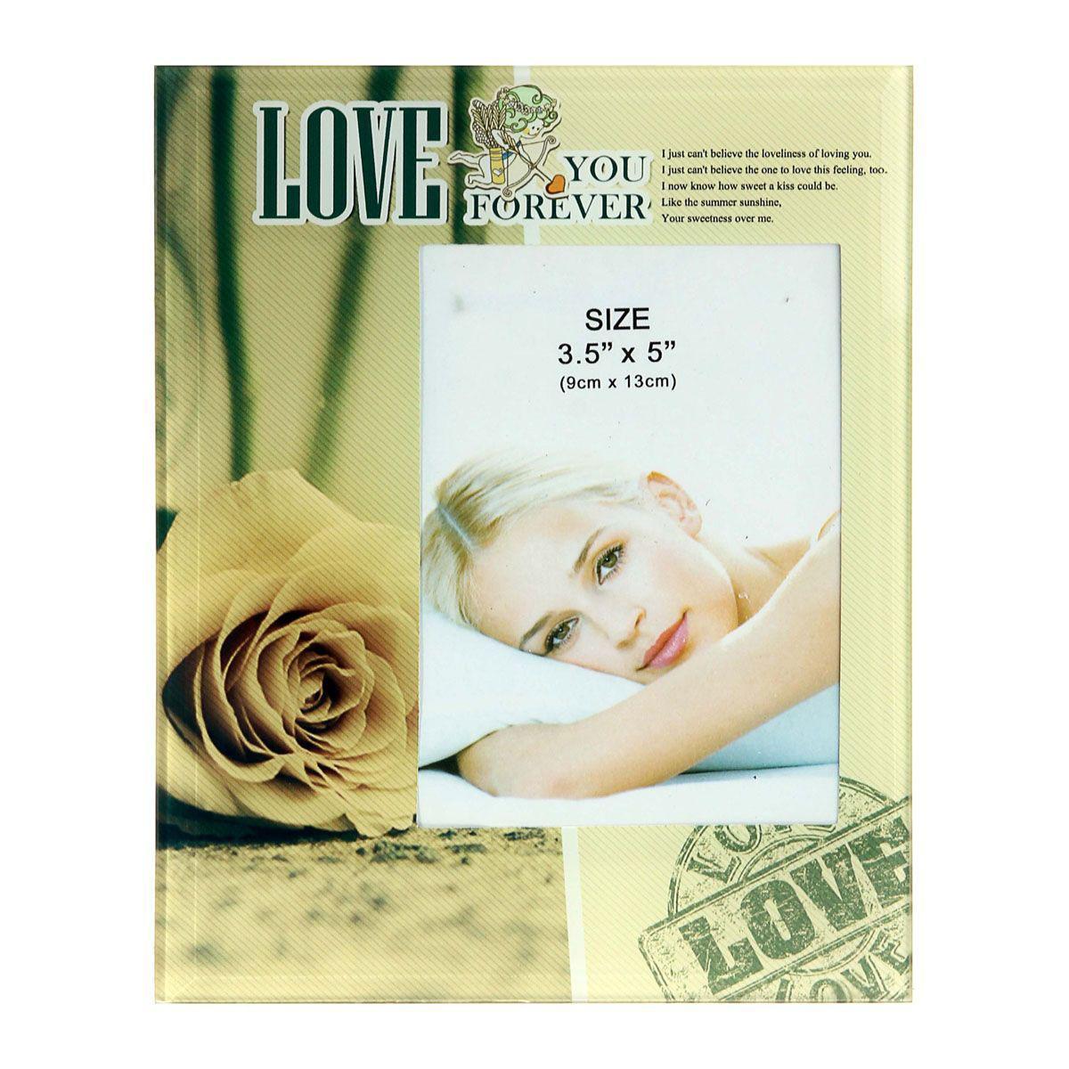 Фоторамка Sima-land Желтая роза Love, 9 х 13 см846777Фоторамка Sima-land Желтая роза Love прекрасный выбор для тех, кто хочет сделать запоминающийся презент родным и близким. Поможет создать атмосферу праздника. Такой подарок запомнится надолго. В нем прекрасно сочетаются цена и качество.