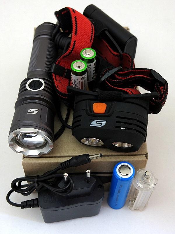 Набор фонарей SOLARIS Kit FZ-50/M40 с комплектациейS4101Набор фонарей состоит из ручного туристического фонаря SOLARIS FZ-50 и налобного фонаря SOLARIS M40. Такое сочетание позволяет решать многие задачи по освещению в походе, на рыбалке, на даче: - Дальнобойный фонарь SOLARIS FZ-50 c функцией фокусировки - для освещения дальних объектов, в качестве поискового и т.д. - Налобный фонарь SOLARIS M40 с 2-мя рефлекторами - пригодится везде, где нужны свободные руки, для освещения близких и среднеудаленных объектов. ОПИСАНИЕ ФОНАРЯ SOLARIS FZ-50: Мощный дальнобойный светодиодный фонарь, с функцией фокусировки (ZOOM) и встроенным портом подзарядки. Фонарь выполнен из авиационного алюминия с III (наивысшей) степенью защитного анодирования корпуса. Влагозащищенный — стандарт IPX6. Фонарь снабжен современным светодиодом СREE XP-E R3 (США). Мощность светового потока 180 люмен, дальность эффективного излучения света 250 метров. Размеры/вес фонаря: 145мм * 37мм; 130грамм (без батарей). В этом фонаре отлично реализована оптическая система...