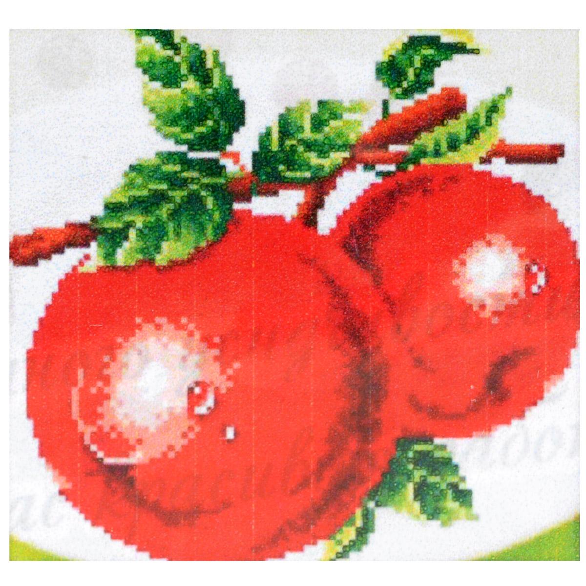 Набор для изготовления картины со стразами Cristal Яблоки, 28 х 29 см7710756.9110Набор для изготовления картины со стразами Cristal Яблоки поможет вам создать свой личный шедевр. Работа, выполненная своими руками, станет отличным подарком для друзей и близких! Набор содержит: - полотно-схема с нанесенным рисунком и клеевым слоем (размер 39 см х 38 см); - пластиковое блюдце; - стразы (20 цветов); - клей для страз; - карандаш; - точилка; - пинцет; - 2 ватные палочки; - 2 маленьких пакетика; - инструкция на русском языке. Подарите близким тепло ваших рук!