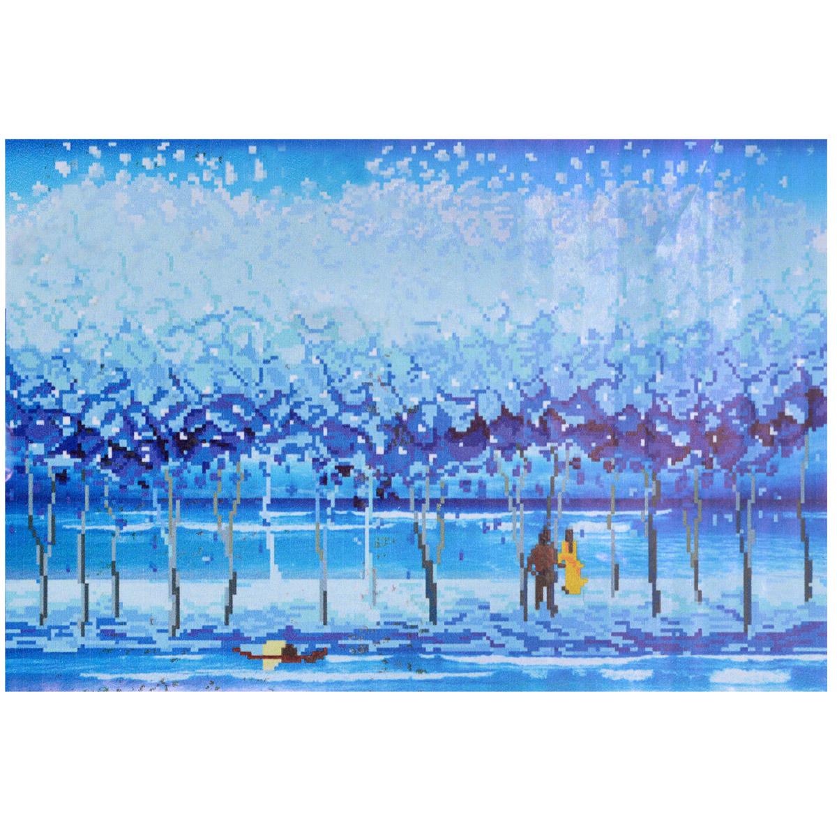 Набор для изготовления картины со стразами Cristal На берегу моря, 69 см х 47 см7710707.8109Набор для изготовления картины со стразами Cristal На берегу моря поможет вам создать свой личный шедевр. Работа, выполненная своими руками, станет отличным подарком для друзей и близких! Набор содержит: - полотно-схема с нанесенным рисунком и клеевым слоем (размер 82 см х 58 см); - пластиковое блюдце; - стразы (18 цветов); - клей для страз; - карандаш; - точилка; - пинцет; - 2 ватные палочки; - 2 маленьких пакетика; - инструкция на русском языке. Подарите близким тепло ваших рук!